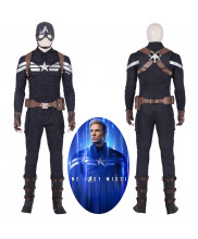 Avengers 4 Endgame Captain America Steve Rogers Cosplay Costume Full Suit