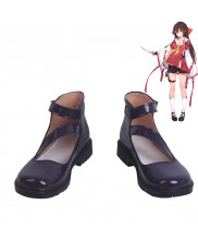 Touhou Project Hakurei Reimu Mafia Cosplay Shoes Women Boots