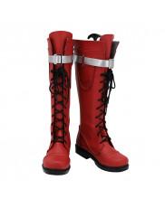 My Hero Academia Witch Ochaco Uraraka Shoes Cosplay Red Boots