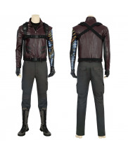Winter Soldier Costume Cosplay Suit Bucky Barnes The Falcon and the Winter Soldier Men Outfit