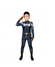 Captain America The Winter Soldier Costume Cosplay Suit Kids Steve Rogers