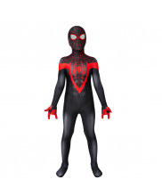 Spider-Man Miles Morales PS5 Costume Cosplay Suit Kids 3D Printed Outfit