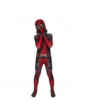 Deadpool Costume Cosplay Suit Kids Wade Wilson