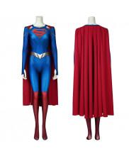 Supergirl Costume Cosplay Suit with Cloak Kara Zor-El Supergirl Season 5 3D Printed Ver.2