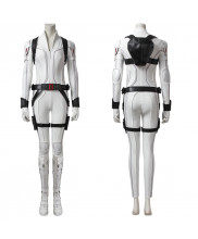 Black Widow Costume Cosplay Suit Natasha Romanoff White Ver 1