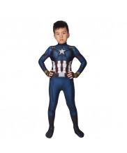 Captain America Costume Cosplay Suit Kids Steve Rogers Avengers Endgame 3D Printed