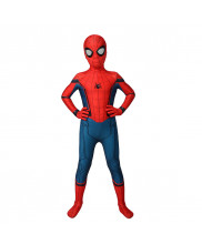 Spider Man Costume Cosplay Suit Kids Peter Parker Spider Man: Far From Home 3D Printed Blue Ver