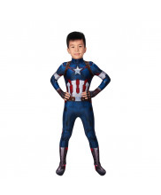 Captain America Costume Cosplay Suit Kids Steve Rogers Avengers Age of Ultron 3D Printed