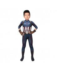 Captain America Costume Cosplay Suit Kids Steve Rogers Avengers Infinity War 3D Printed