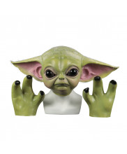 The Mandalorian Baby Yoda Helmet Prop Cosplay Replica Mask With Gloves