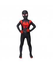Miles Morales Costume Cosplay Suit Kids Spider-Man: Into the Spider-Verse 3D Printed