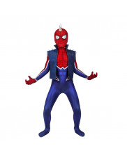 Spider-Punk Costume Cosplay Suit Kids Hobart Brown Spider-Man PS4 3D Printed