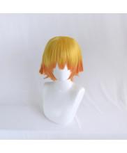 Demon Slayer Kimetsu No Yaiba Zenitsu Agatsuma Cosplay Wig Yellow Orange Hair