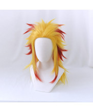 Demon Slayer Kimetsu No Yaiba Kyojuro Rengoku Cosplay Wig Hair