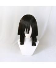 Demon Slayer Kimetsu No Yaiba Obanai Iguro Cosplay Wig Black Hair