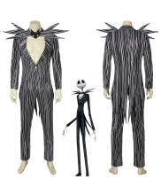 The Nightmare Before Christmas Jack Skellington Cosplay Costume Men Halloween Outfit