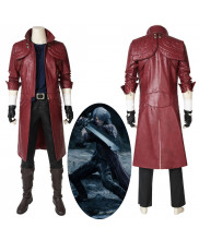 New Devil May Cry V DMC 5 Dante Cosplay Costume Red Leather Coat Outfit