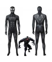Venom Symbiote Edward Eddie Brock Venom Cosplay Costume Jumpsuit 3D Printed