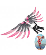 OW Overwatch Pink Mercy Charity Skin Wings Cosplay Prop Version 1