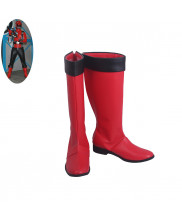 Kaizouku Sentai Gokaiger Gokai Red Captain Marvelous Cosplay Shoes Men Boots