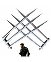 2PCS Wolverine Logan Blade Claw Paw Cosplay Prop ABS Plastic