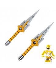 Mighty Morphin Power Rangers Yellow Ranger Boy Sword Cosplay Prop 2PCS
