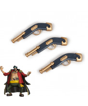 ONE PIECE Blackbeard Pirates Marshall·DTeach Gun Replica Cosplay Prop 3PCS