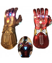 Avengers Endgame Iron Man Tony Stark Infinity Gauntlet Gloves Cosplay Prop with Light Version 1