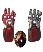Avengers Endgame Iron Man Tony Stark Infinity Gauntlet Gloves Cosplay Prop with Light Version 2