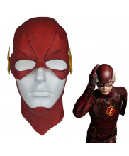 The Flash Barry Allen Mask Full Head Cosplay Prop Latex