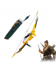 OW Overwatch Shimada Hanzo Storm Bow Arrow and Quiver Cosplay Prop Golden