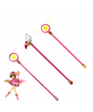 CARDCAPTOR SAKURA KINOMOTO SAKURA Magic Wand Weapon PVC Cosplay Props