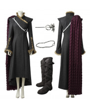 New Game of Thrones 7 Daenerys Targaryen Cosplay Costume with Cloak