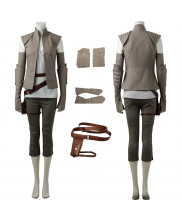 2017 Star Wars The Last Jedi Rey Cosplay Costume