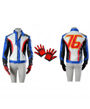 Overwatch Soldier 76 Costume Cosplay Jacket Gloves