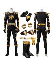 Power Rangers Dino Thunder Black Dino Ranger Cosplay Costume