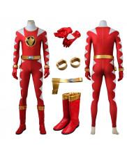 Power Rangers Dino Thunder Red Dino Ranger Cosplay Costume