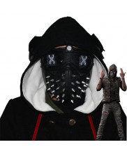 Game Watch Dogs 2 Marcus Holloway LED Light Mask Cosplay Prop Punk Rivet Face