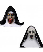 Movie The Conjuring 2 The Nun Latex Mask Cosplay Prop Scary Halloween Mask