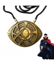 Doctor Strange Eye of Agamotto Amulet Antique Bronze Pendant Necklace Cosplay Prop