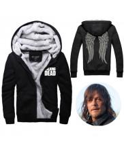 The Walking Dead Hoodie Zombie Daryl Dixon Wings Winter Fleece