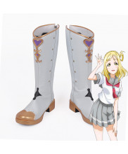 Love Live Sunshine Mari Ohara Aqours Wonderland Cosplay Boot Shoes