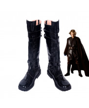 Star Wars Anakin Skywalke Black Boots Cosplay Shoes