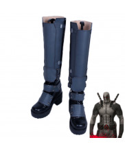 X-men Deadpool Cosplay Boots Shoes White
