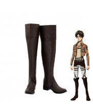 Attack On Titan Eren Jaeger Cosplay Brown Shoes Boots Custom Made