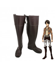Attack on Titan Eren Jaeger Boots Cosplay Shoes Custom Made