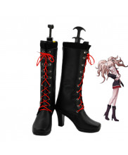 Danganronpa Enoshima Junko Cosplay Shoes Black Boots