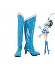 SailorMoon Mizuno Ami Sailor Mercury Cosplay Shoes Boots Custom Made