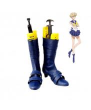 Sailor Moon Tenou Haruka Sailor Uranus Cosplay Shoes Boots Customized Size
