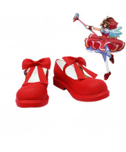 Cardcaptor Sakura Kinomoto Sakura Cosplay Boots Red Shoes